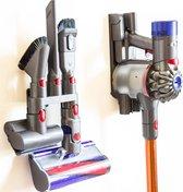 Wandhouder voor Dyson draadloze steelstofzuiger accessoires V7/V8/V10/V11 incl montage materialen | muurbeugel | onderdelen | ophangsysteem | muurhouder | accessoires ophangen