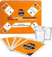 Zuipen tot we kruipen® - Drankspel + 3 gratis shotglazen - 89 opdrachten - kaartspel - speelkaarten
