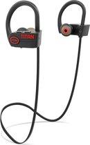 EarHackz® Titan - Draadloze In-ear Bluetooth Sport Oordopjes - Wireless Headset Koptelefoon - Zwart/rood