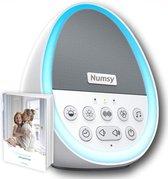 Numsy® NightCalm White Noise Machine Baby - Slaaptrainer - Witte Ruis Volwassenen - Slaaphulp - Slaap Geluidsmachine - LED Licht