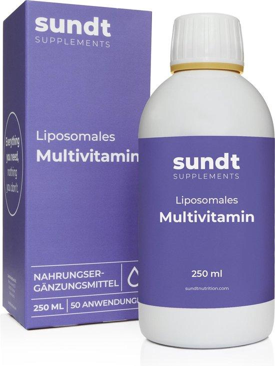 Multivitamine Liposomaal Vegetarisch Voedingssupplement  250 ml - Sundt® - Suikervrij - GMO-vrij
