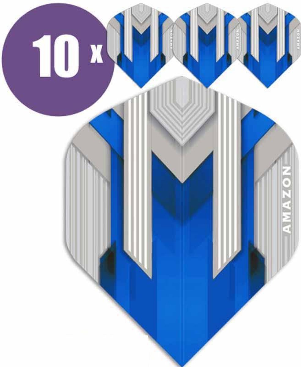 ABC Darts Flights - Amazon silver Blauw - 10 sets (30 st.) Dart Flights