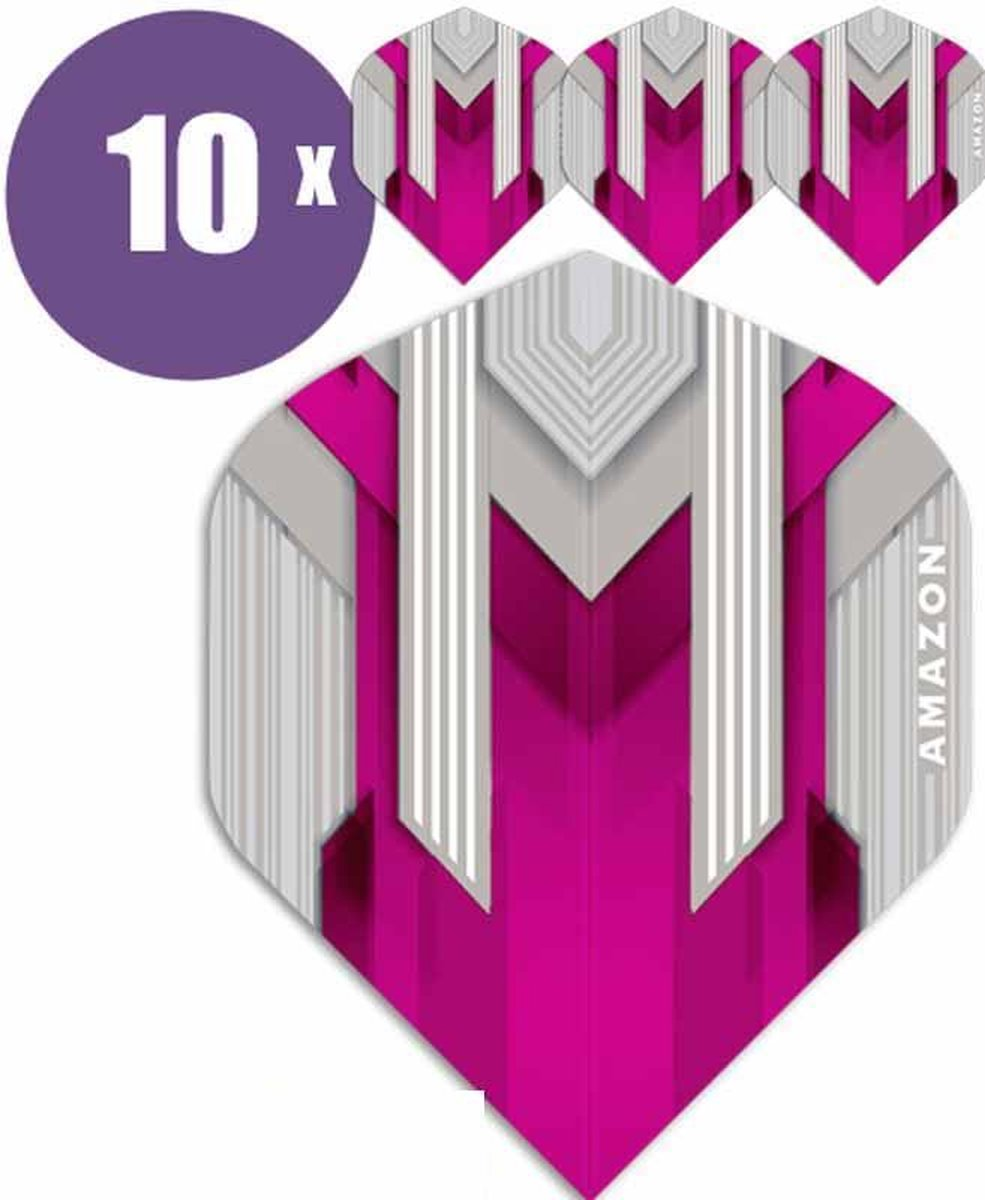 ABC Darts Flights - Amazon silver Roze - 10 sets (30 st.) Dart Flights