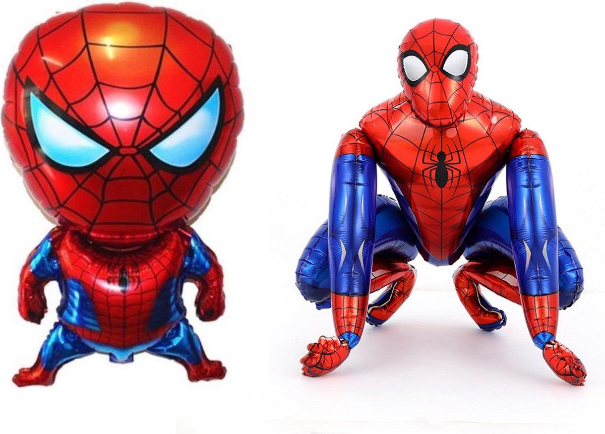 Spiderman XL Ballon 3D en Grote Folieballon - inclusief opblaas rietje - Folie Ballonnen Verjaardag Decoraties Kids Baby Boy Party Decoratie Speelgoed kinderfeestje versiering feestpakket