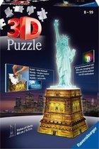 Ravensburger Statue of Liberty Night Edition- 3D puzzel gebouw - 108 stukjes