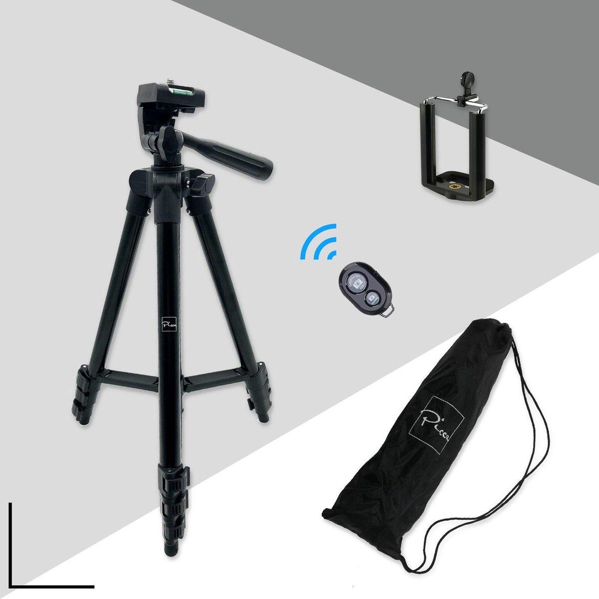 Picca Camera statief  voor spiegelreflexcamera en telefoon – 102 cm