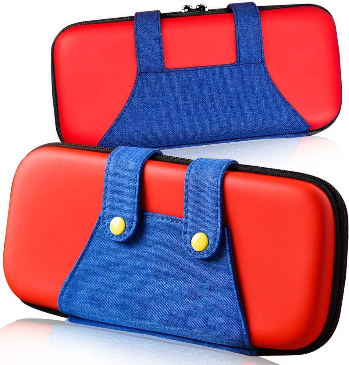 Nintendo Switch Case - Hard Case Beschermhoes - Compact - Rood - Blauw