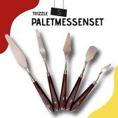 Trizzle Paletmes Set – 5x Schildersmes - Paletmessen voor Schilderen