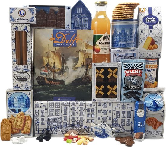 Cadeaupakket - Kerstpakket - Cadeauset - Geschenkset - Holland nr 4 - Hollandse cadeautjes   Pakket met diverse Hollandse lekkernijen