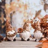3 Tuinkabouters | Dwergen | Dwergfiguren | Herfst Decoratie | Tafel Decoratie | Tuin Decoratie | Sfeer Decoratie | Voor Binnen en Buiten | Herfst tuinkabouters