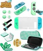 De meest Volledige Accessoires Set voor Nintendo Switch Console en Controller – In het Thema van Animal Crossing Switch New Horizons – Joy Con - Switch Case - 11 IN 1 Case + Accessoires Set