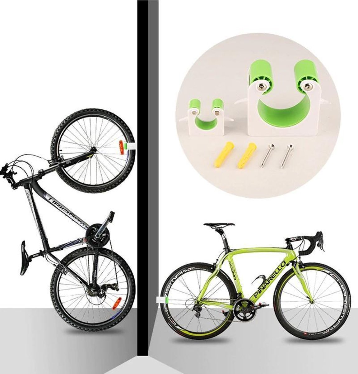 Racefiets Bike Fiets Parking Road Gesp Muurbevestiging Haak Stand Verticale Opslag