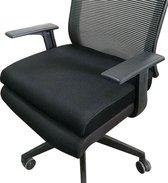 iDeskmate Zitkussen voor langdurig zitcomfort – Bureaustoel kussen – XL – Zwart