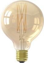 Calex Warm Filament - Led lamp - Globe - Goud - Ø95mm - E27 Fitting - Dimbaar - 4W 2100K 320lm