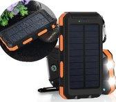 Ecocharge 20.000 mAh all-in-one Solar Powerbank - Tot 6 keer opladen - Waterdichte Powerbank - Outdoor Powerbank - 20.000 mAh Powerbank - Zwart