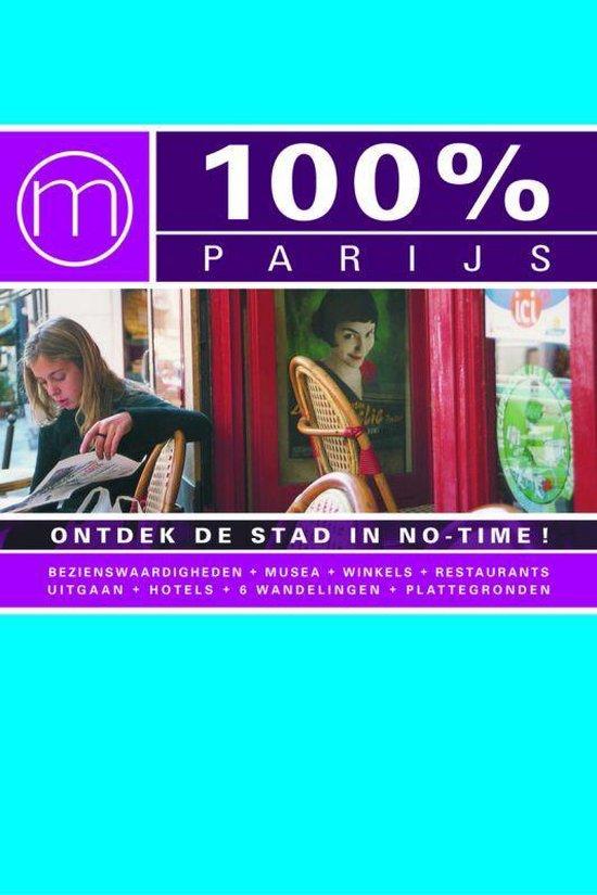 Cover van het boek '100% Parijs ontdek de modestad in notime' van Franck Sabattier