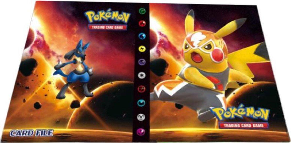 Pikachu Libre verzamelmap met Lucario - Plek voor 240 Pok mon kaarten (Map / Portfolio)