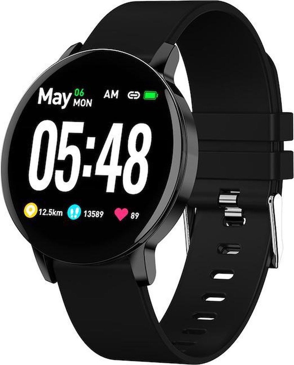 Tijdspeeltgeenrol smartwatch LD9 ZWART Heren/Dames- Android/iOS- Stappenteller - Hartslagmeter -Bloeddrukmeter - Activity Tracker - Bluetooth - Waterdicht-Fitness kopen
