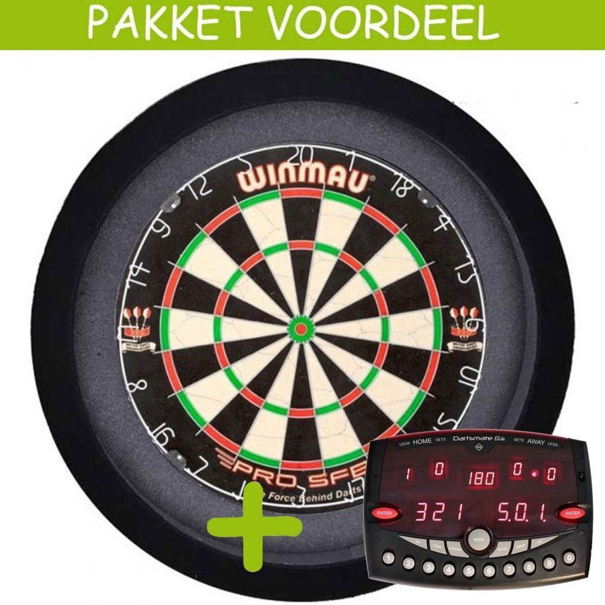 Elektronisch Dart Scorebord VoordeelPakket (Elite ) - Pro SFB - Dartbordverlichting Basic (Zwart)