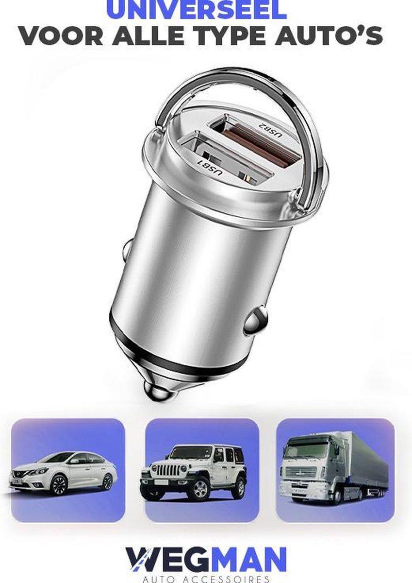Wegman 45W Autolader - Veilig en Compact - Snellader - Auto Oplader - Sigaretten Aansteker - Laad 4x
