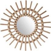 Ronde bamboe spiegel – 30 cm – Rotan Wandspiegel