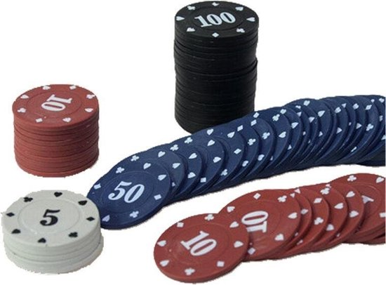 Thumbnail van een extra afbeelding van het spel 100Pcs Texas Poker Chip Tellen Bingo Chips Sets Casino Card Game