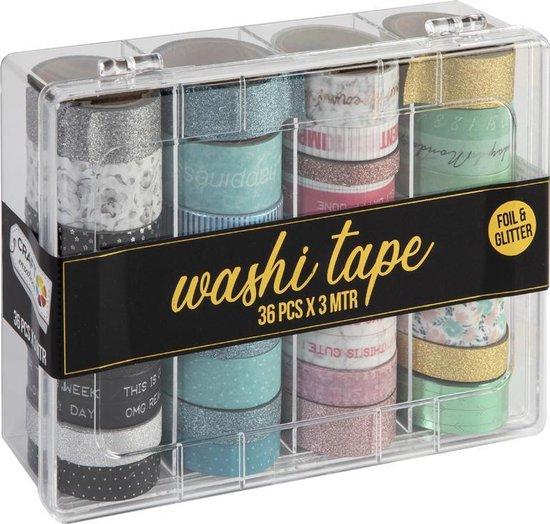 Washi Tape 36pcs x 3 Meter   36 verschillende designs   Bullet journal   Craft Sensations