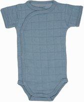 Lodger Rompertje Baby - Romper Solid - Blauw - Korte mouw - 56