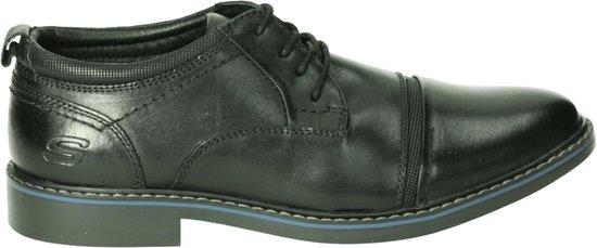 Skechers Mannen Veterschoenen Kleur: Zwart Maat: 46
