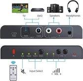 SGM-134 Audio converter digitaal naar analoog, SPDIF, Coaxiale Toslink naar analoge L / R, Met afstandsbediening, Zwart