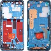 Let op type!! Originele middenframe bezelplaat met zijtoetsen voor Huawei P40 Pro (Blauw)