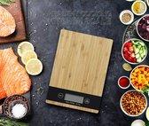 Digitale Precisie Keukenweegschaal - Tot 5 kg - Inclusief batterijen - Hout