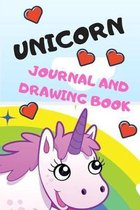 Unicorn journal and drawing book: notebook for girls, writing journal lined, doodling, sketching and notes, diary, unicorn, drawing, blank lined pages