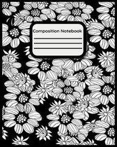 Composition Notebook: Cute Floral Coloring Notebook for Class PLUS BONUS!