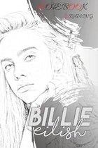 Boek cover Billie Eilish Notebook Drawing 011: Project Planner (110 Pages, Blank, 6 x 9) van Billie I. I. (Paperback)