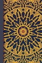 Simple Mandala Flower: Mandala Designs Line Notebook 100 Pages 6'' x 9'' (15.24 x 22.86 cm)