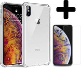 iPhone Xs Hoesje Shock Case Cover En Screenprotector Tempered Glass