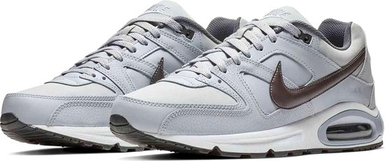Nike Air Max Command Leather Heren Sneakers - Wolf Grey/Black - Maat 43