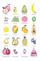 Watercolor Fruit: Graph Paper Notebook, 6x9 Inch, 120 pages