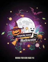 Halloween Books For Kids ages 4-8: Designs Coloring Book Kids Halloween