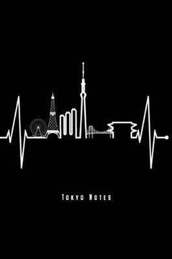 Tokyo Notes: Tokio Skyline Notizbuch Mit Herzschlag F�r Japan Fans Planer Tagebuch Schreibheft (Punktraster / Dot Grid, 120 Seiten,