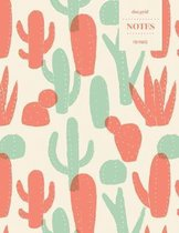 Dot Grid Notes 110 Pages: Cactus Floral Notebook for Professionals and Students, Teachers and Writers - Succulent Pattern -