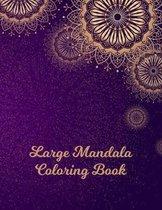 Large Mandala Coloring Book