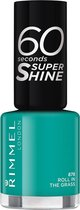 Rimmel London 60 seconds supershine Rita Ora Collection Nagellak - 878 Roll In The Grass