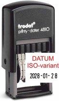 Trodat Printy dater 4810 3,8 mm. datum cijfers ISO U zw/zw