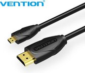 Vention Micro HDMI naar HDMI kabel Full HD 1080P & 3D - Gold Plated - 1 Meter