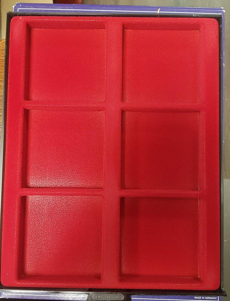 Lindner muntencassette D-BOX voor 6 grote munten of medailles