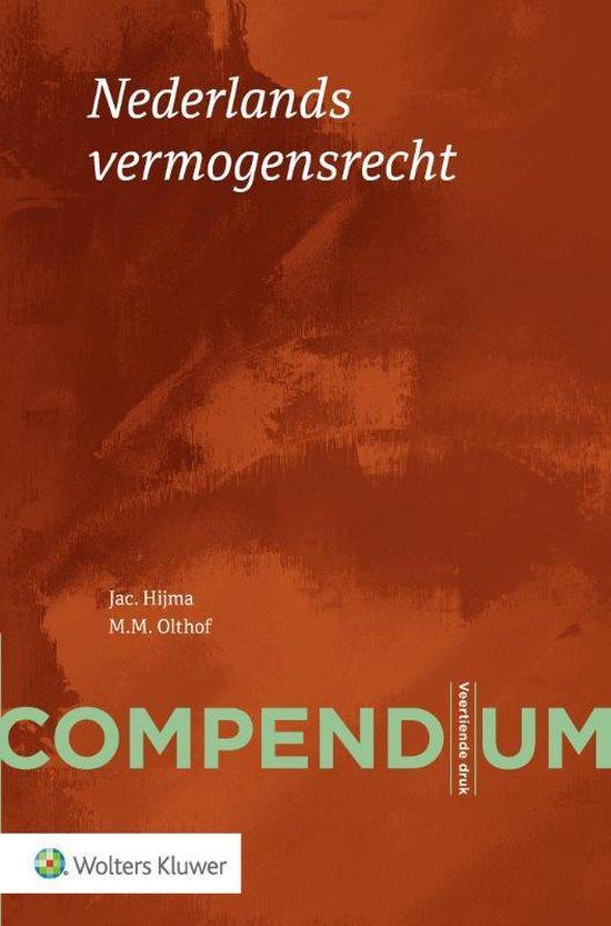 Boek cover Compendium Nederlands vermogensrecht van Jac Hijma (Paperback)