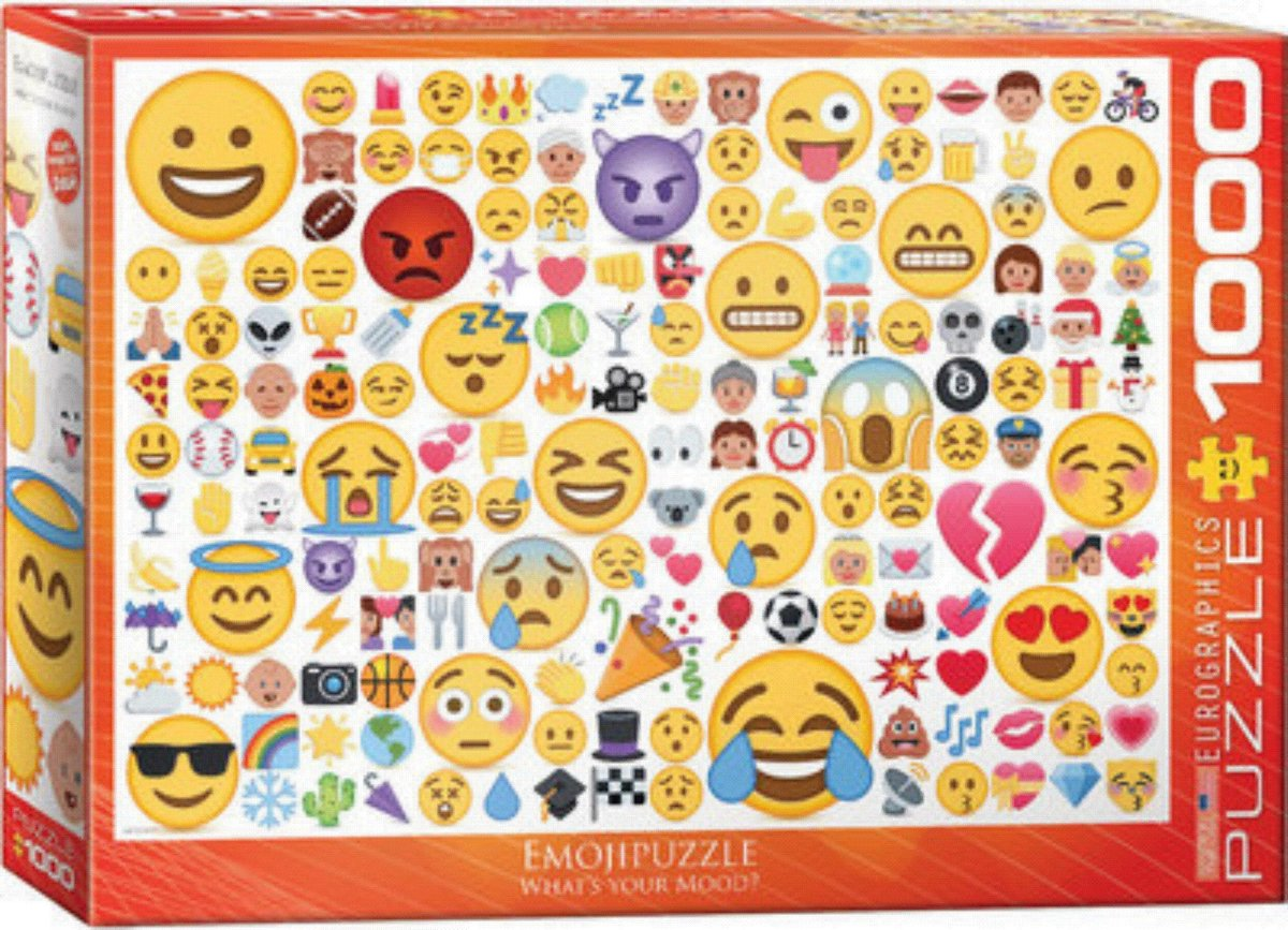 Puzzel 1000 stukjes - Emoji , whats your mood ?