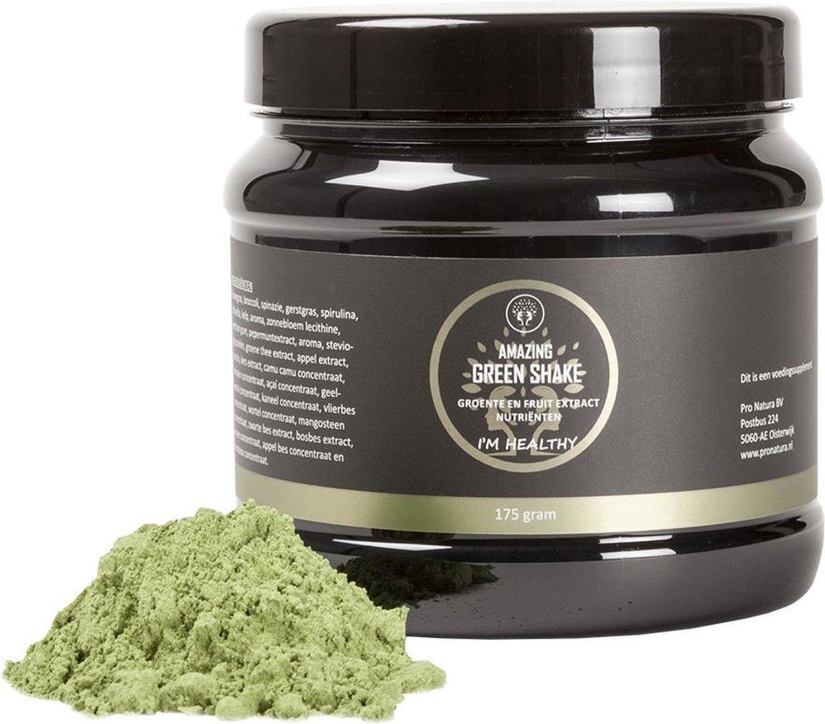 I M HEALTHY Green Juice Poeder - 175 gram - Spirulina - Chlorella - Tarwegras - Kurkuma